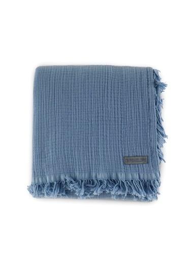 Penelope Soflin Müslin Yatak Örtüsü 240x220 Mavi